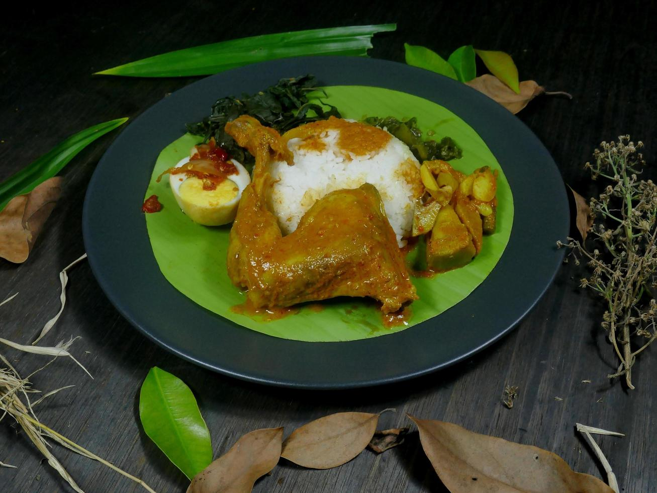 Indonesian Padang cuisine menu photo