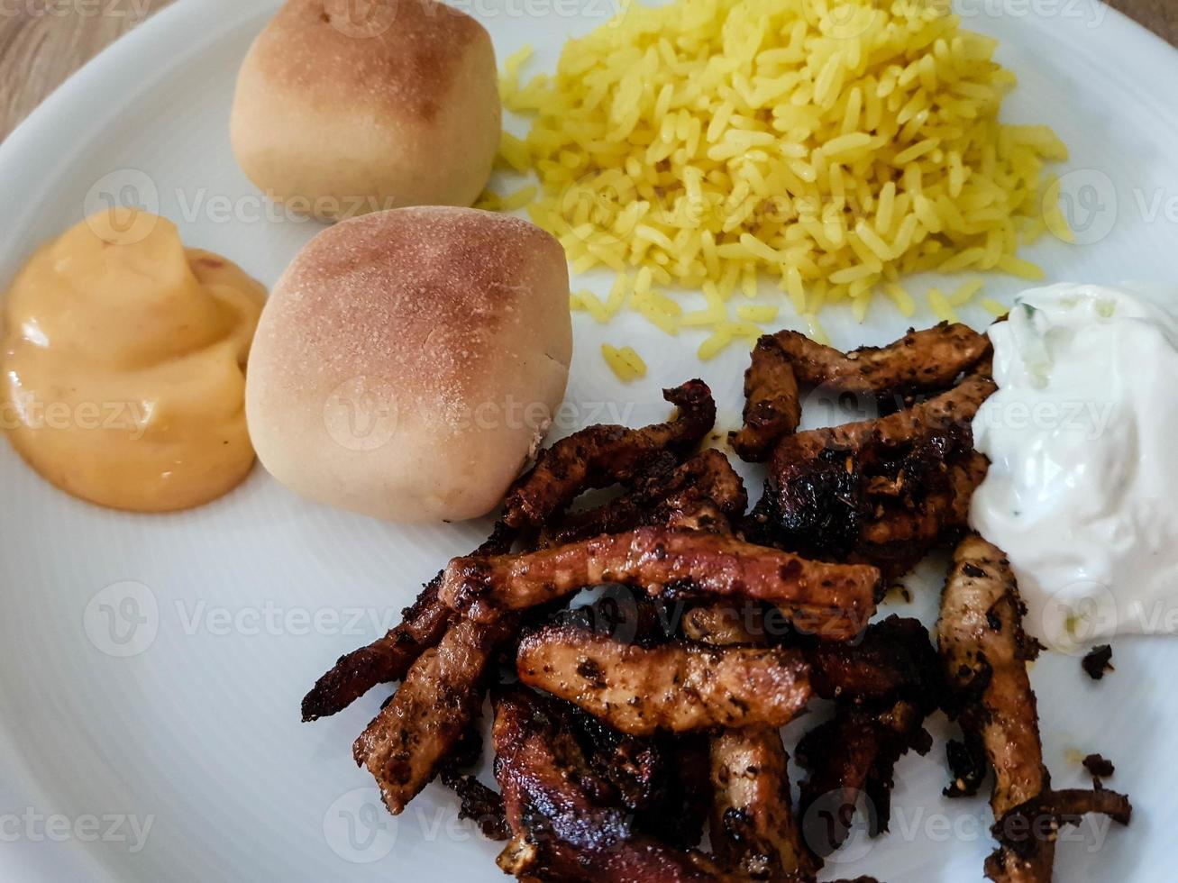 giroscopios de comida griega foto