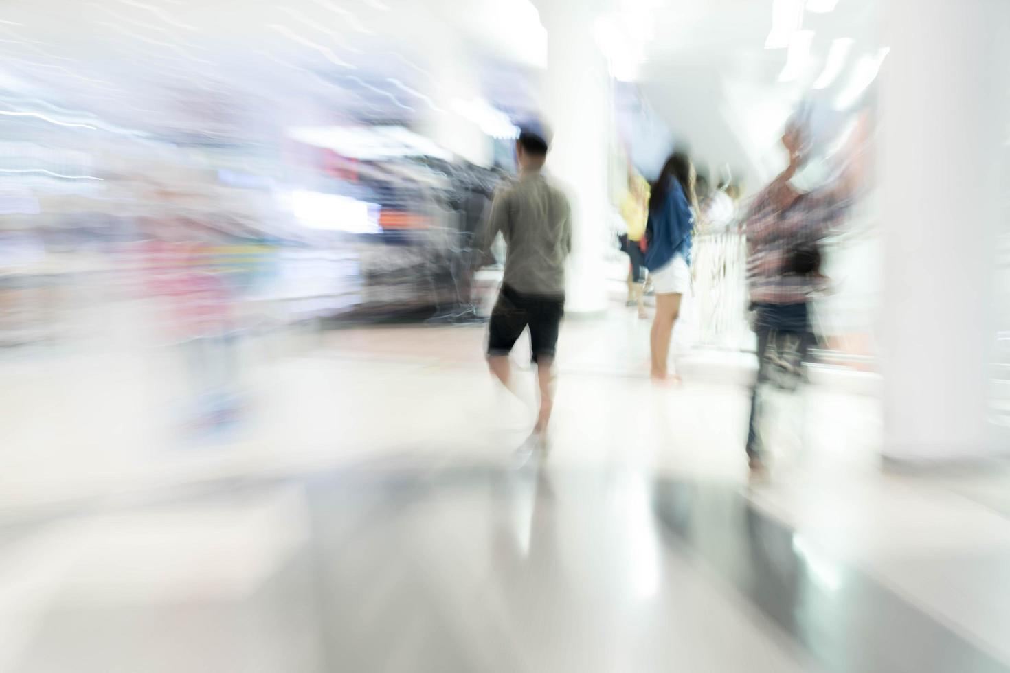 Abstract blur people in beautiful luxury shopping mall photo