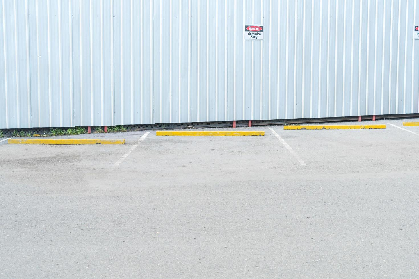 Empty parking car for background photo