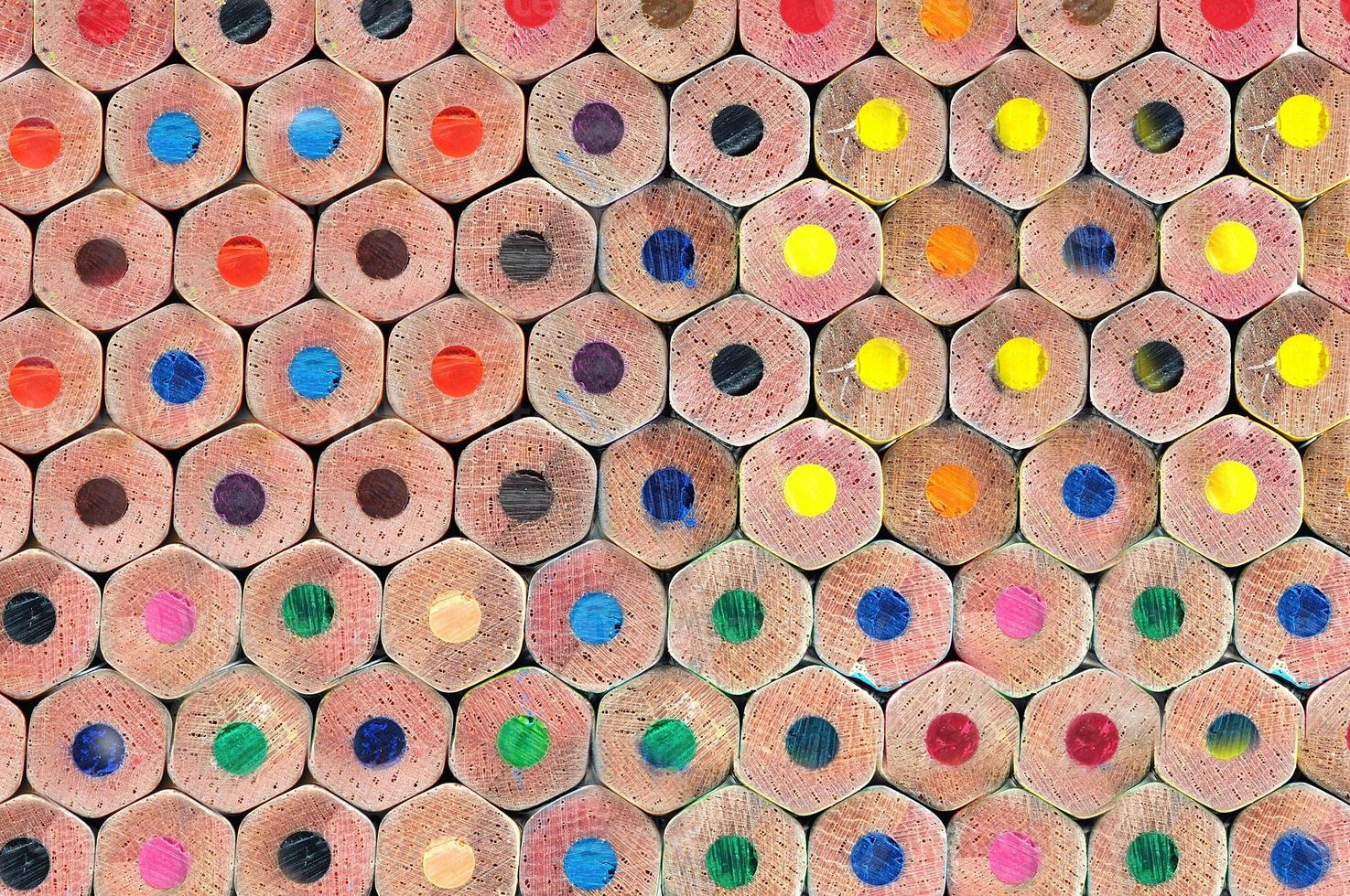 Texture of colored pencils photo