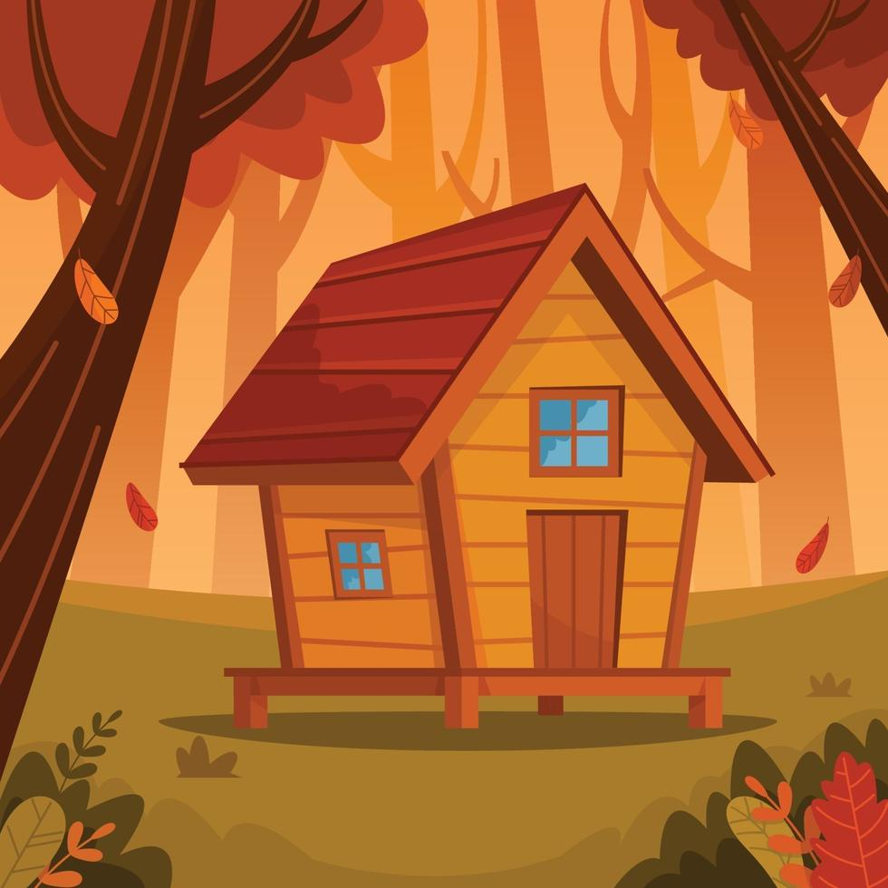 Small Cabin in the Woods vector