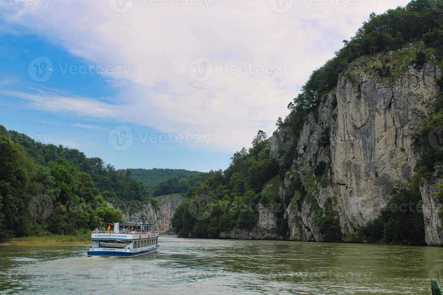 Danube River around the Village of Weltenburg photo