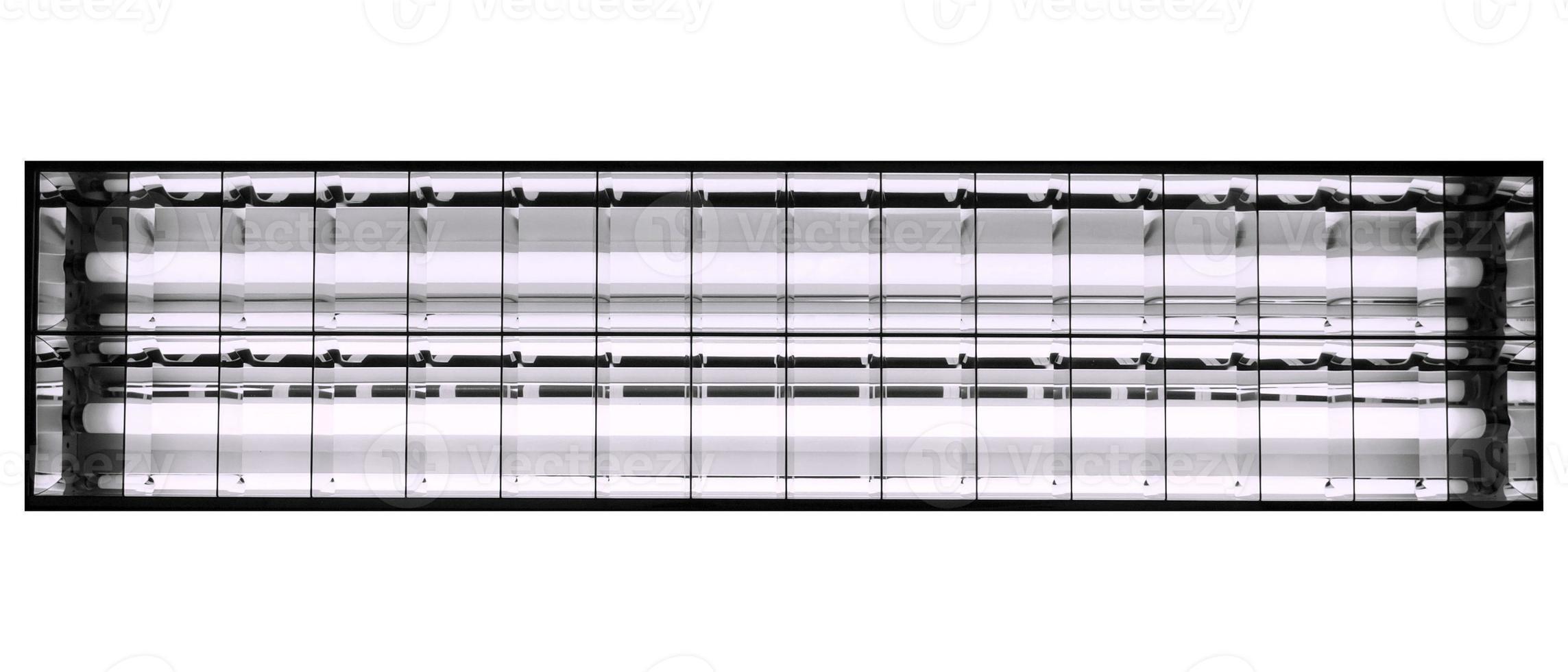 Lámpara de luz de neón aislada sobre blanco foto