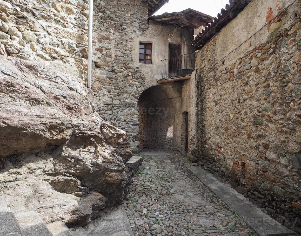 View of Settimo Vittone old city centre photo