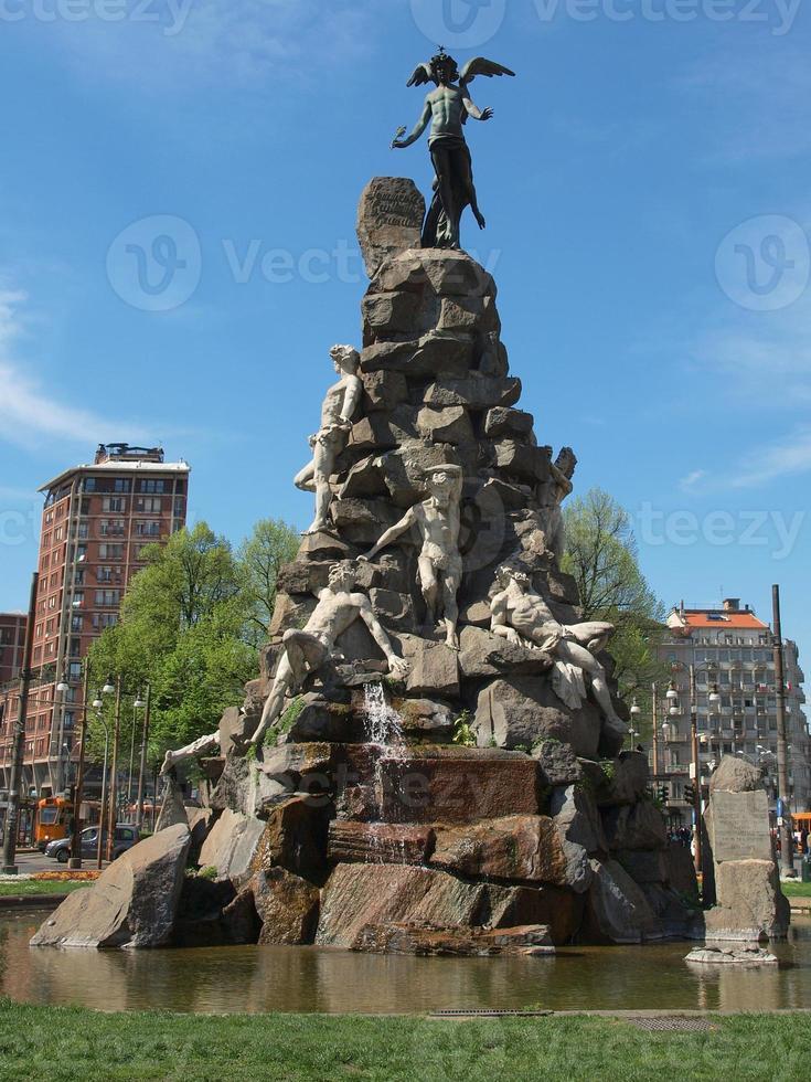 Traforo del Frejus statue, Turin photo
