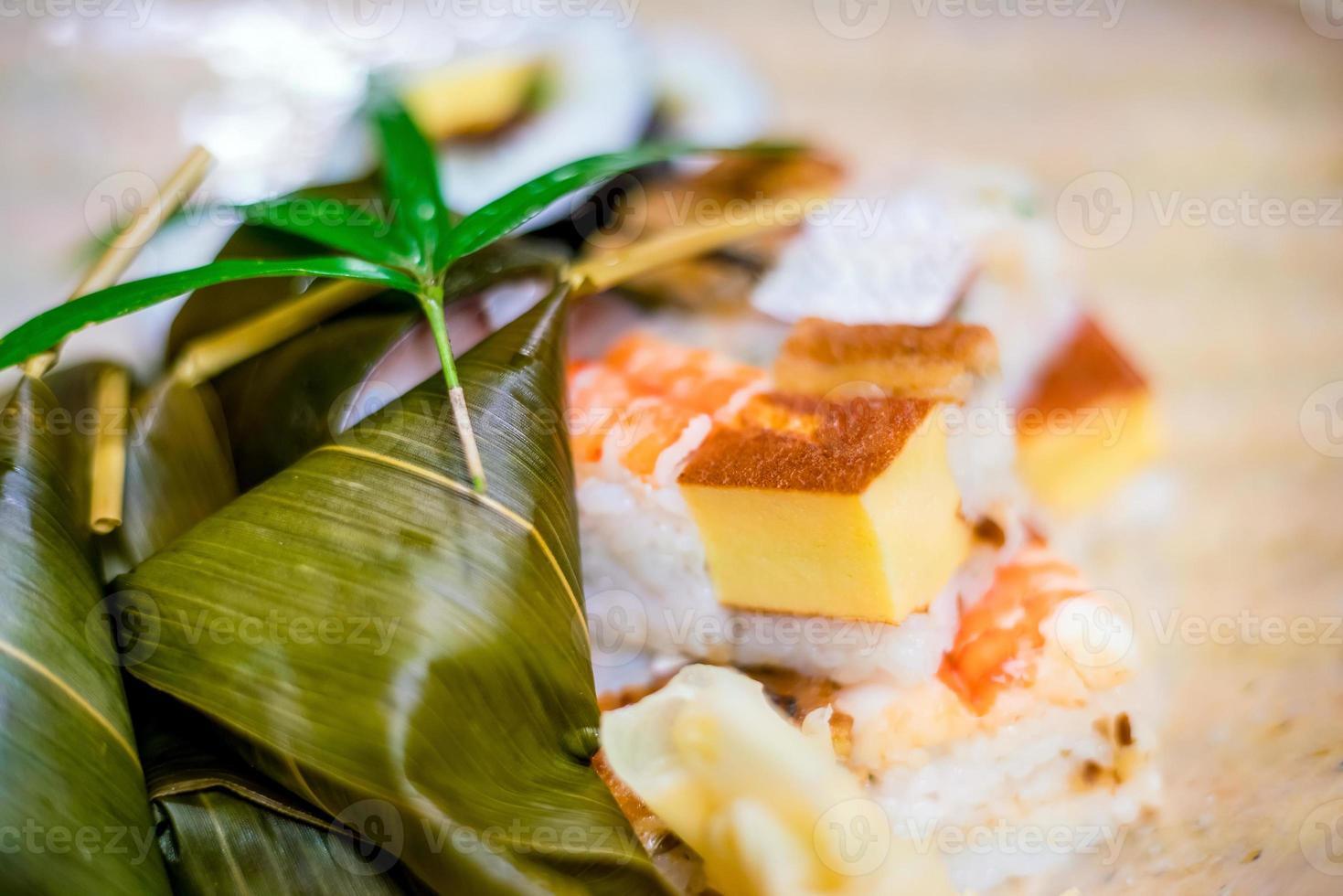 Traditional Kyoto style sushi photo