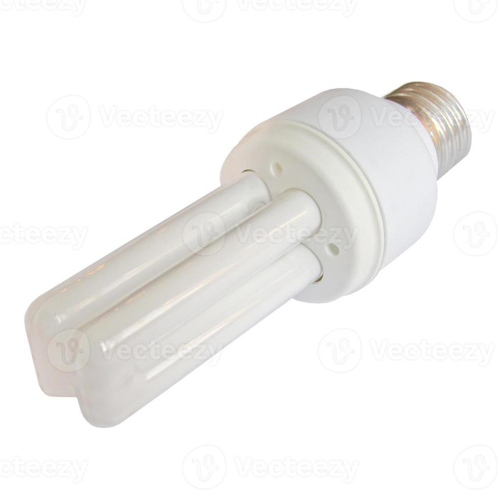 bombilla de luz aislada sobre blanco foto