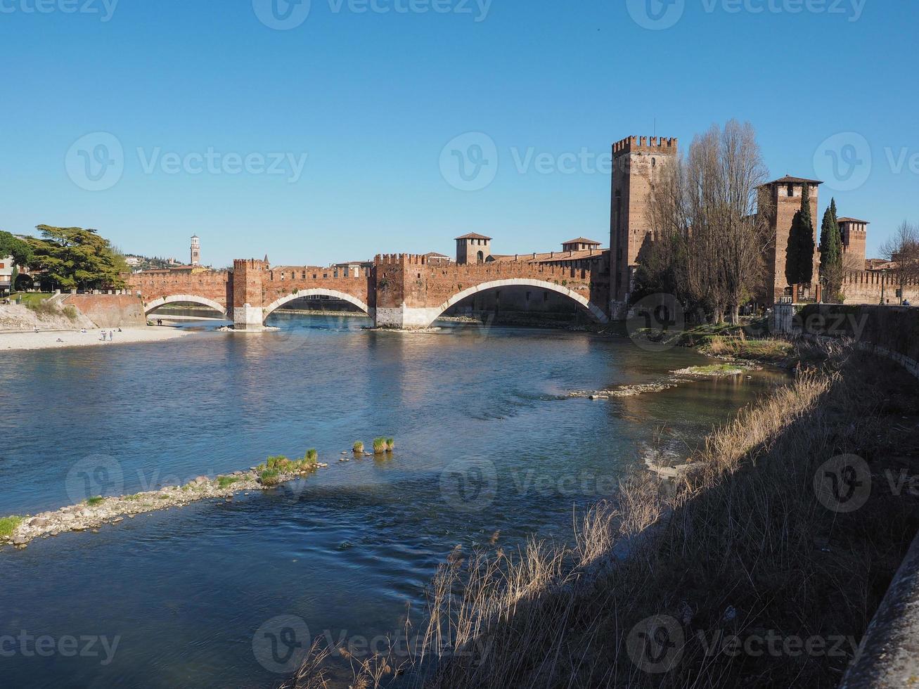 castelvecchio, viejo, castillo, en, verona foto