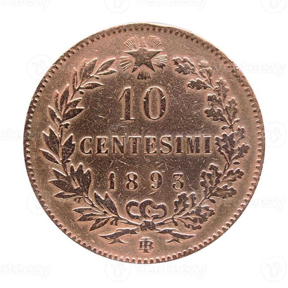 moneda italiana antigua foto