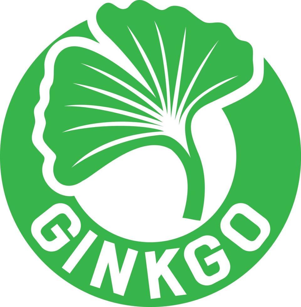 Ginkgo Biloba Symbol vector