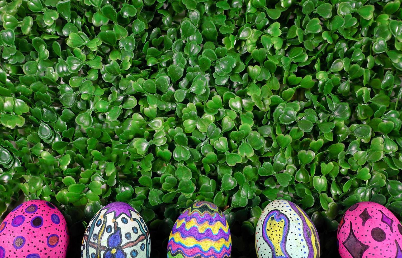 Paschal Easter Eggs Holiday Celebration in Spring Time photo