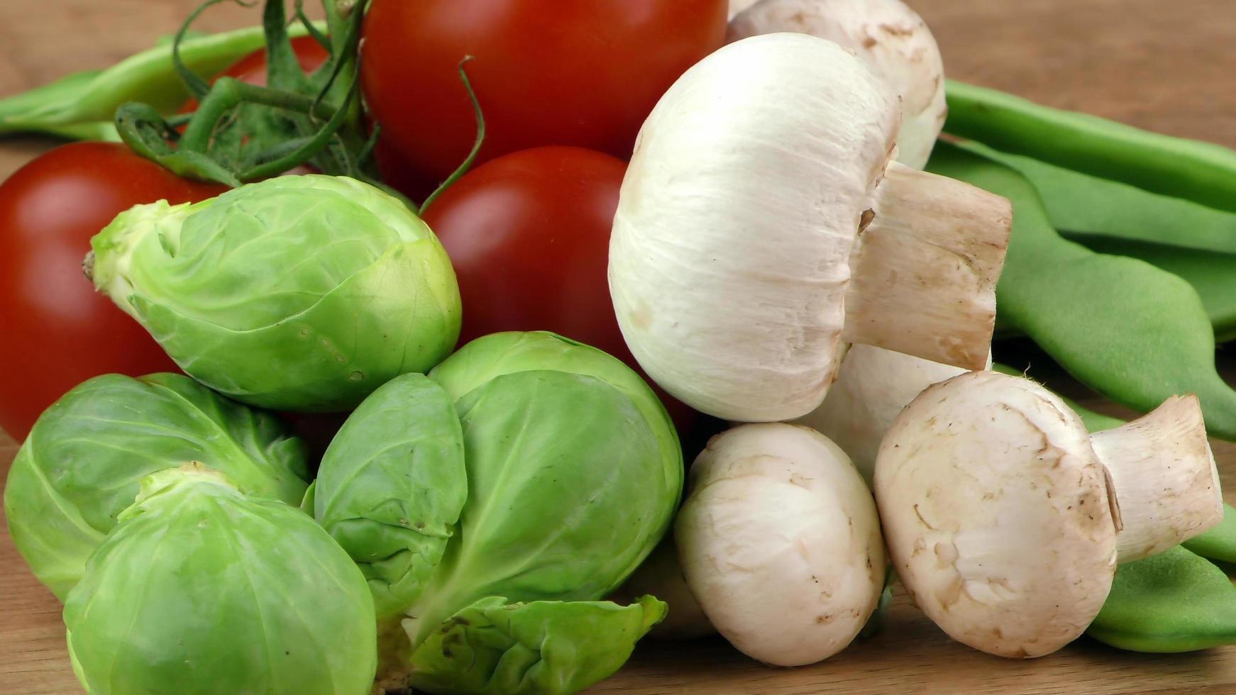 mezcla de vegetales orgánicos saludables foto