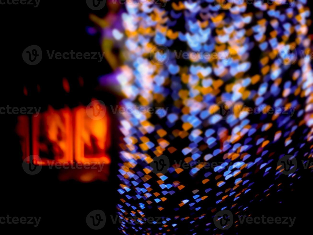 Desenfoque azul naranja en forma de corazón foto