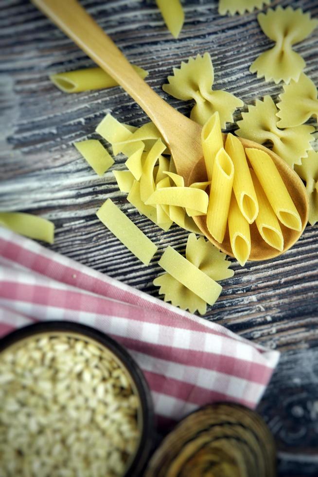 Italian Macaroni Pasta Uncooked Raw Food photo