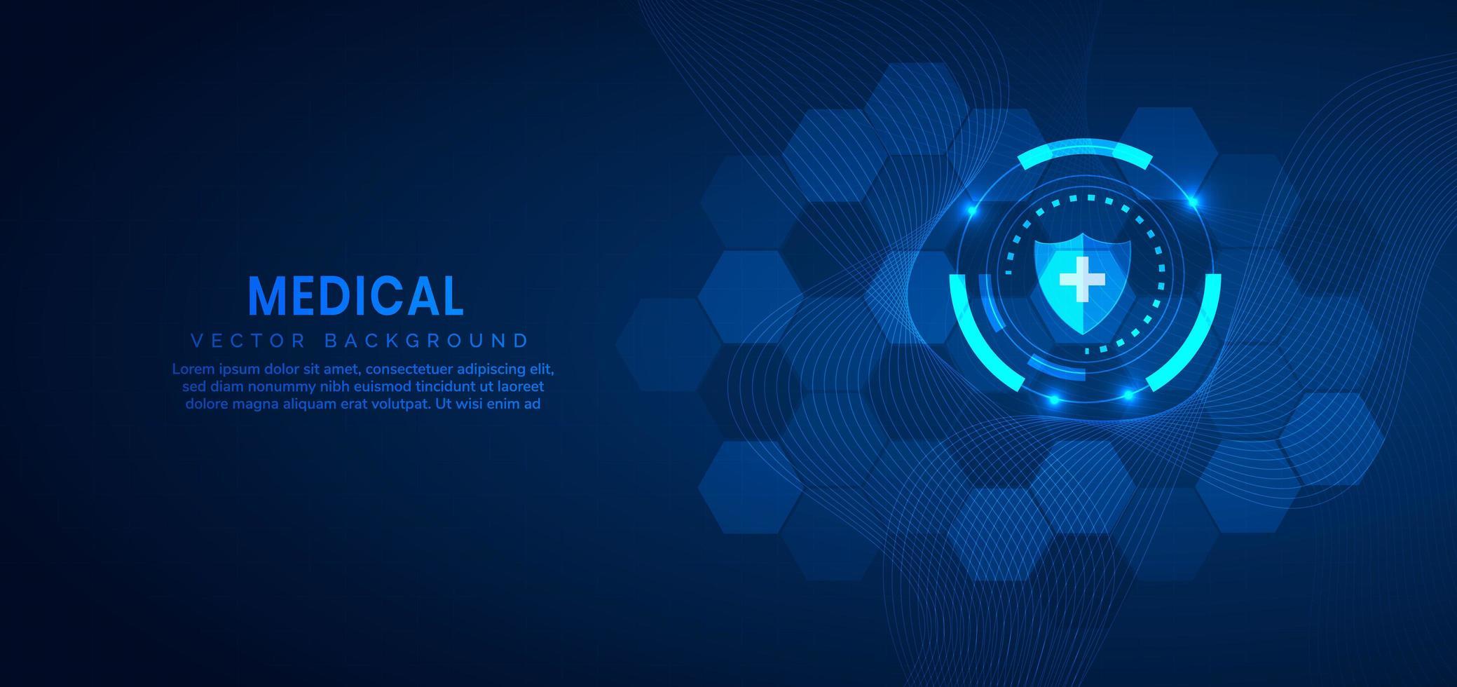 concepto de tecnología y ciencia médica y fondo de patrón. vector