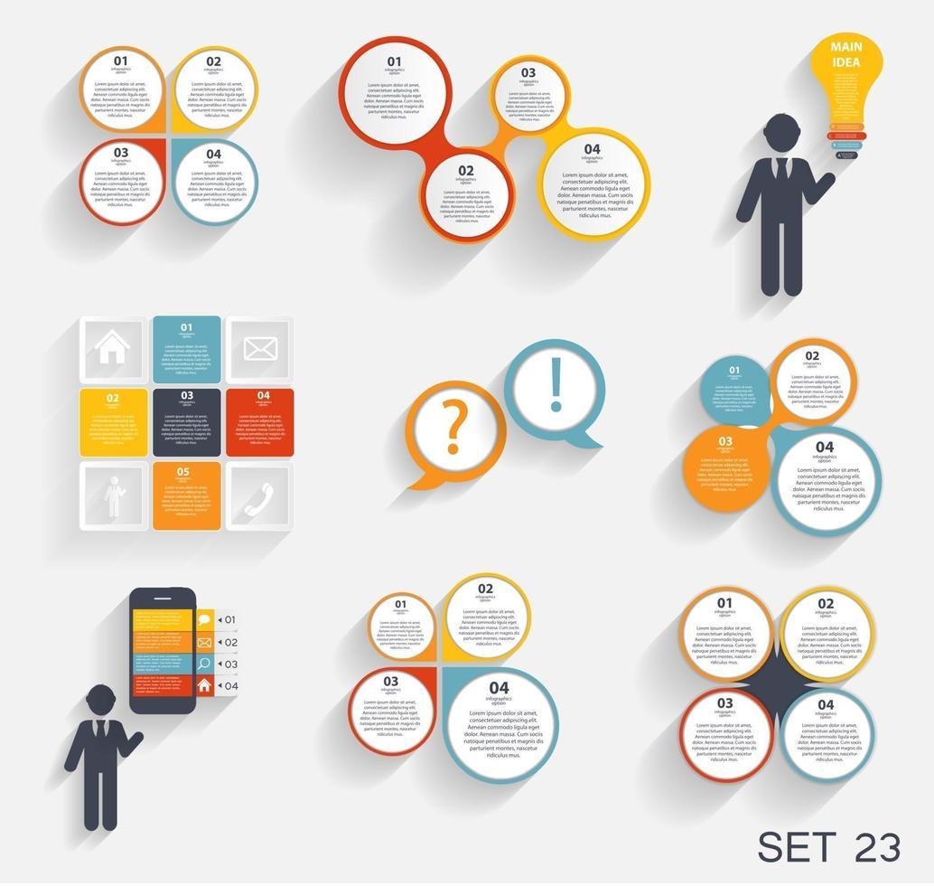 colección de plantillas infográficas para empresas. vector