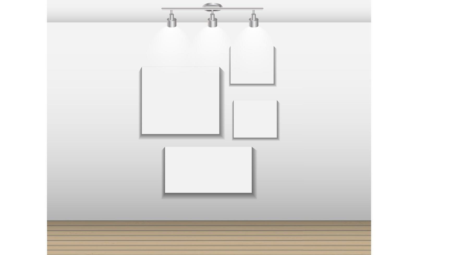 marco en la pared para su texto e imágenes, ilustración vectorial vector