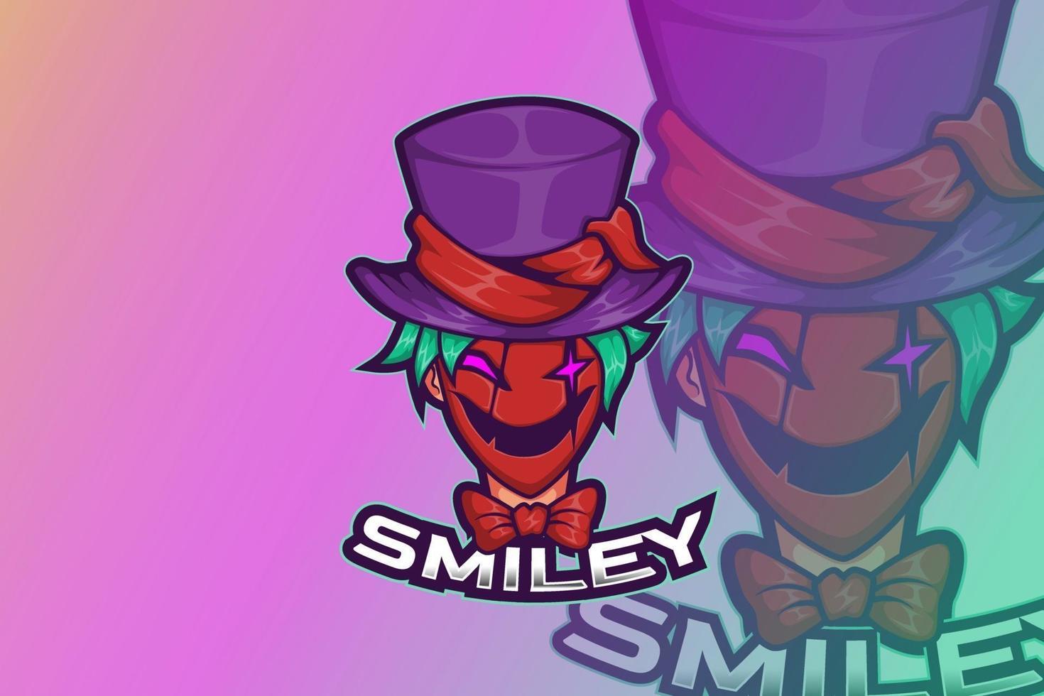 e sport logo design smile payaso vector