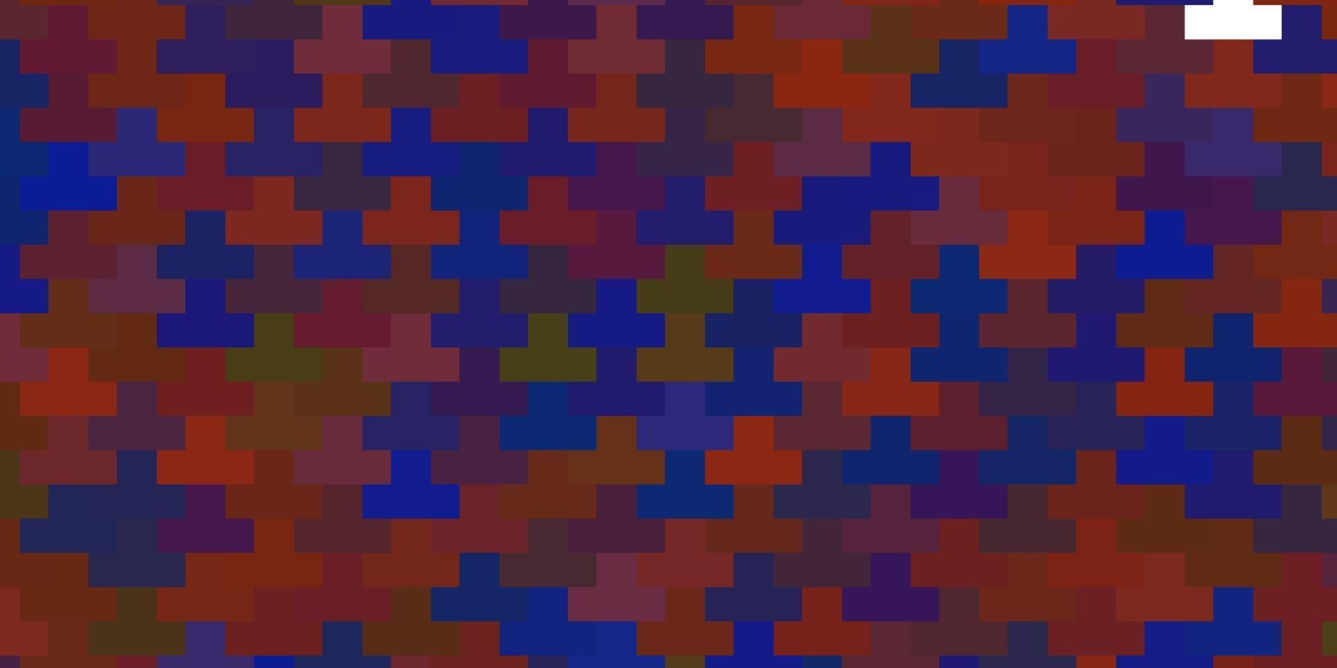 plantilla de vector azul claro, rojo con rectángulos.