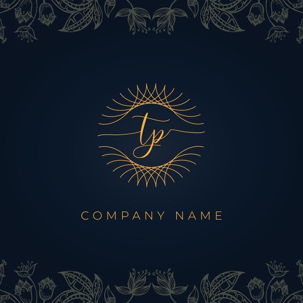 Elegant luxury letter TP logo. vector