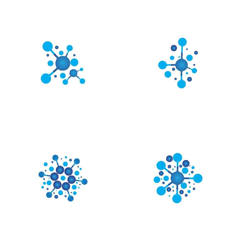 Molecule vector illustration design