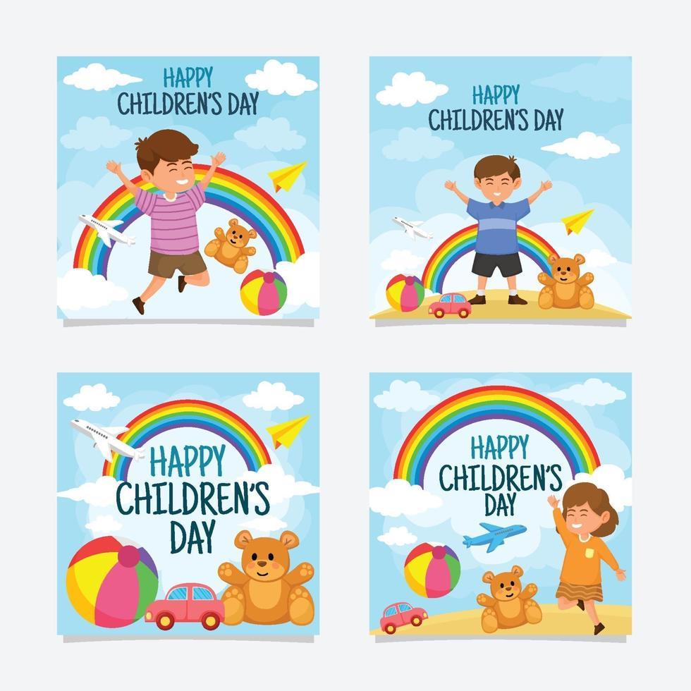 Happy Children Day Social Media Post vector