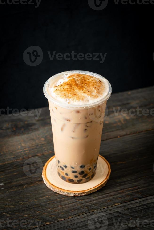té con leche de taiwán con burbuja foto