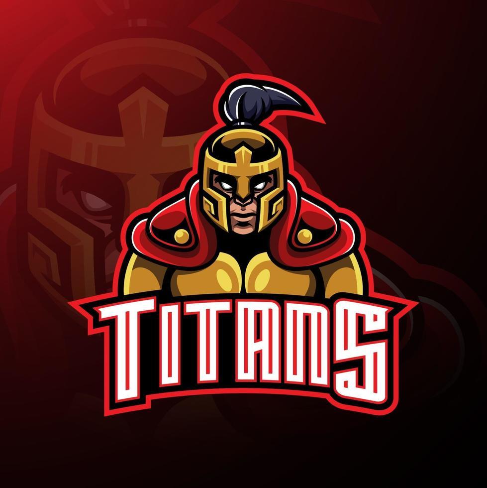 Titans warrior mascot logo design vector