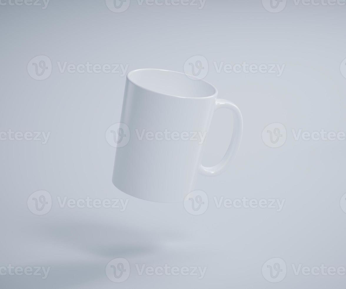 maqueta de taza de café flotante ligera foto