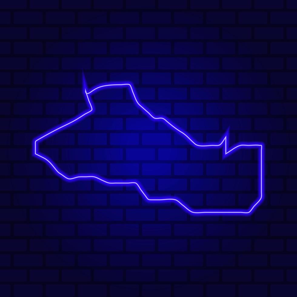 Salvador glowing neon sign on brick wall background photo