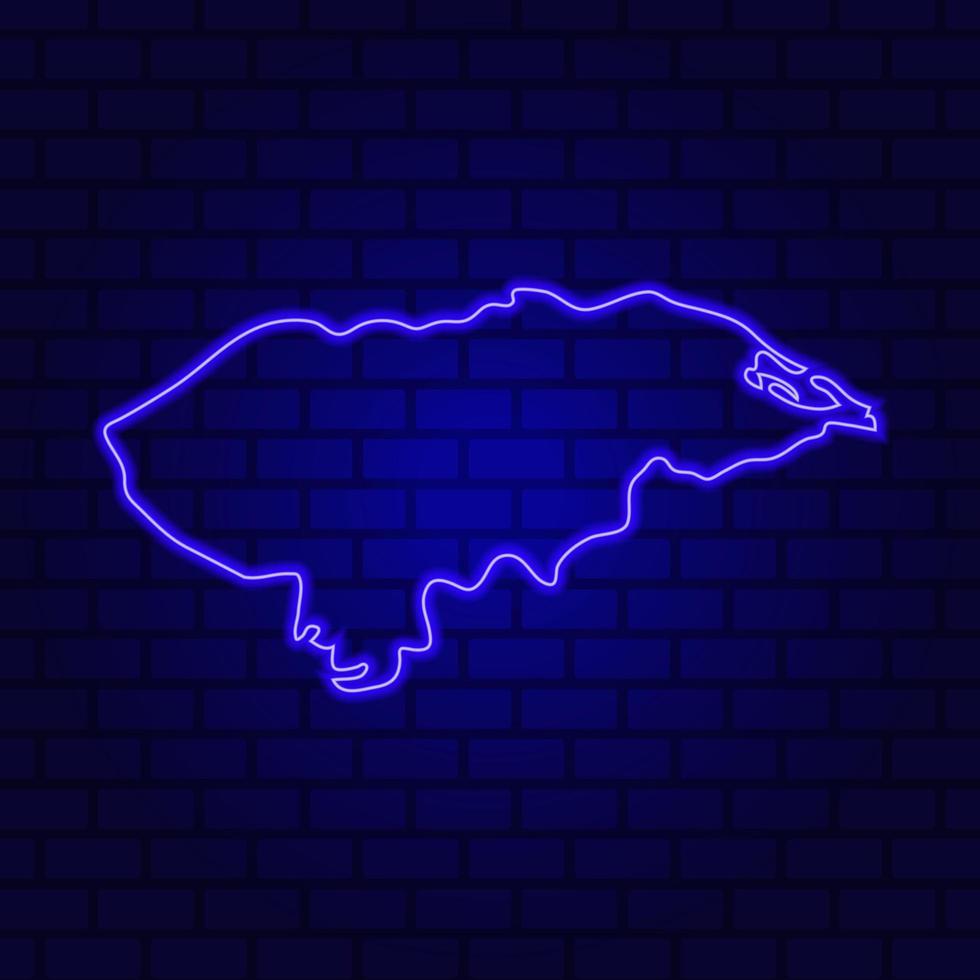 Honduras glowing neon sign on brick wall background photo