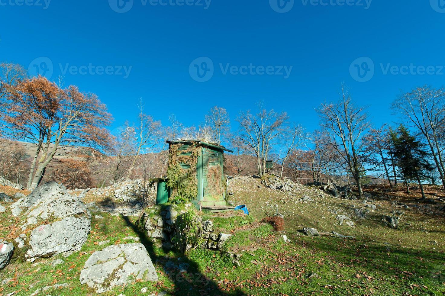 Hunting cabin on prealps italia photo