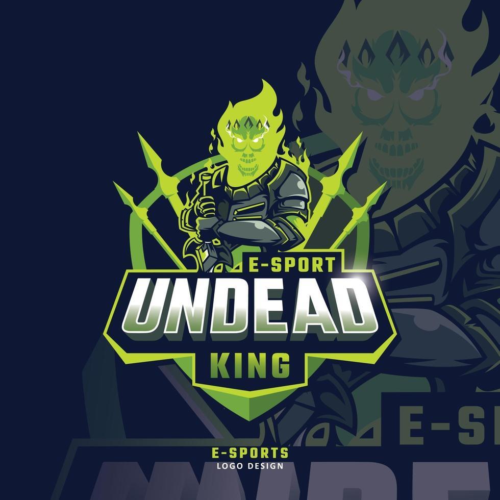 Skull esport mascot logo vector