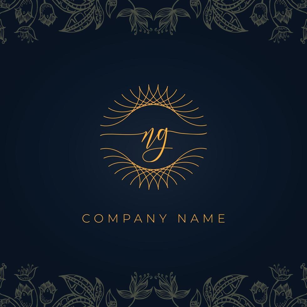 Elegant luxury letter NG logo. vector