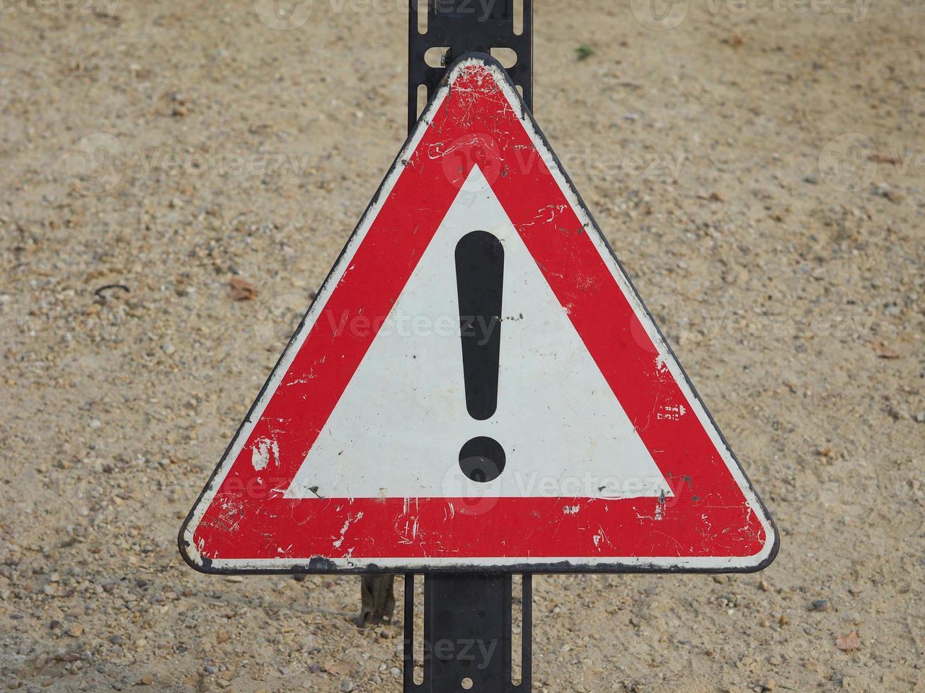 señal de peligro genérico foto