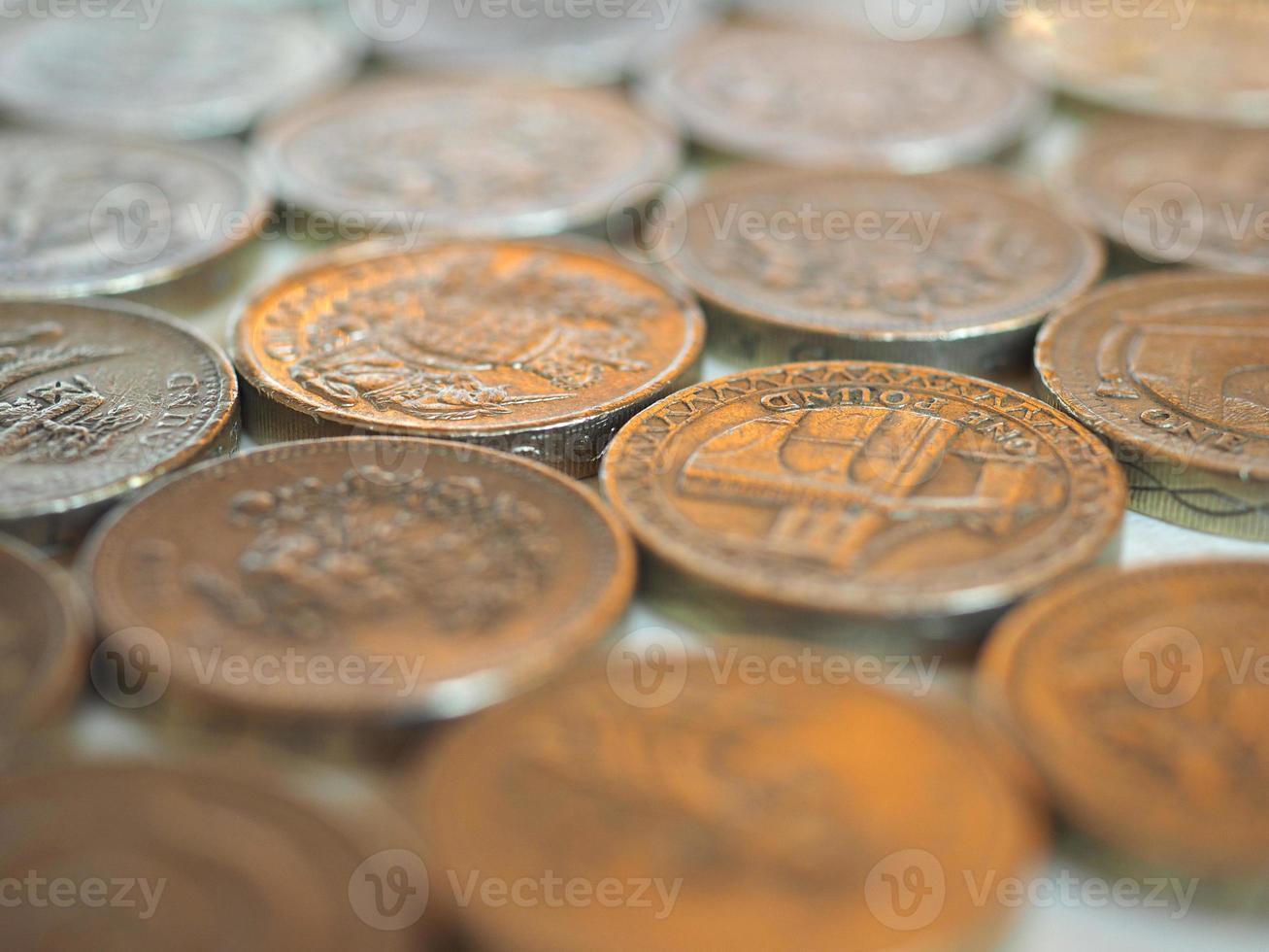 Pound GBP coin, United Kingdom UK photo
