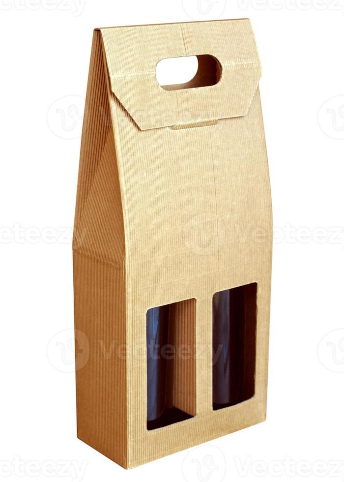Wine bottles box photo