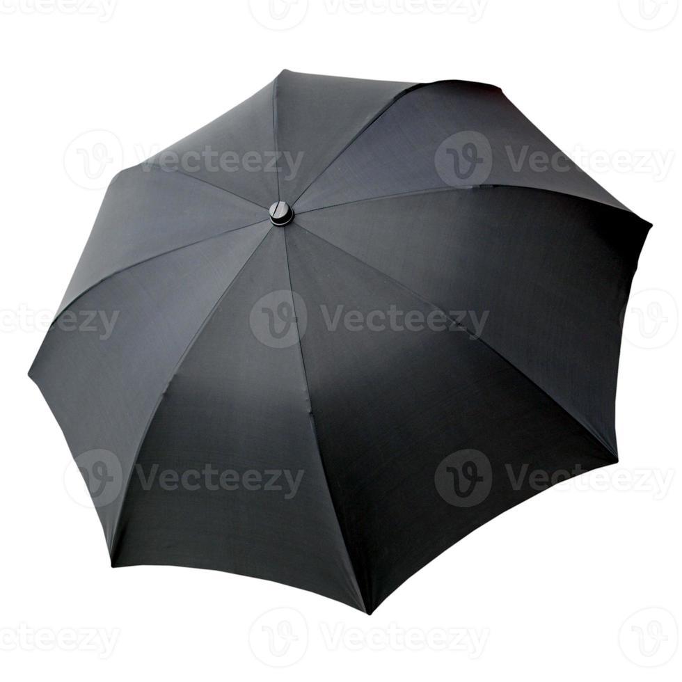 paraguas negro aislado foto