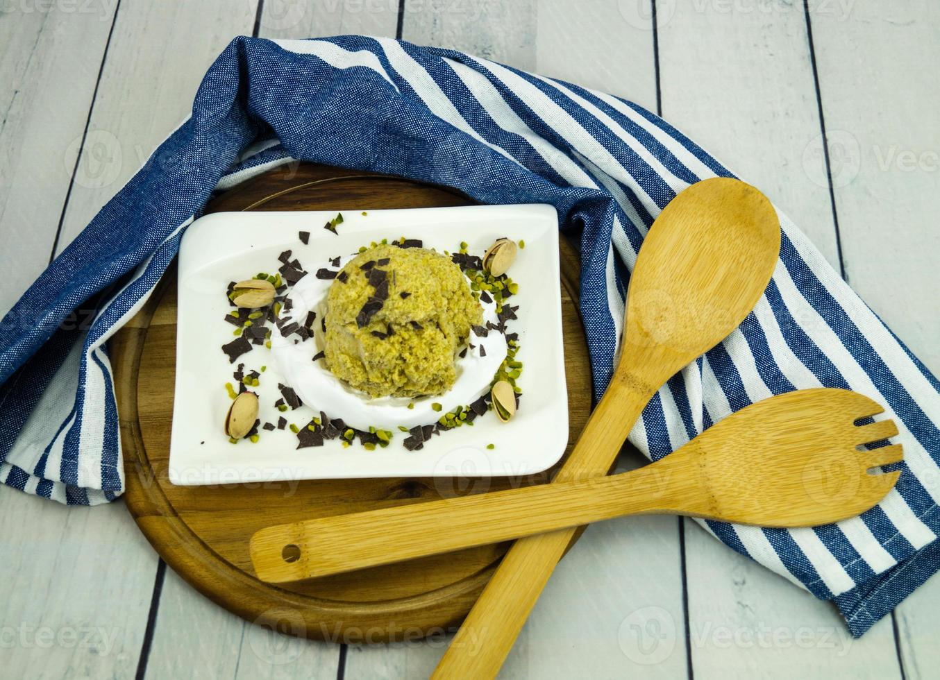 An Italian pistachio ice cream photo