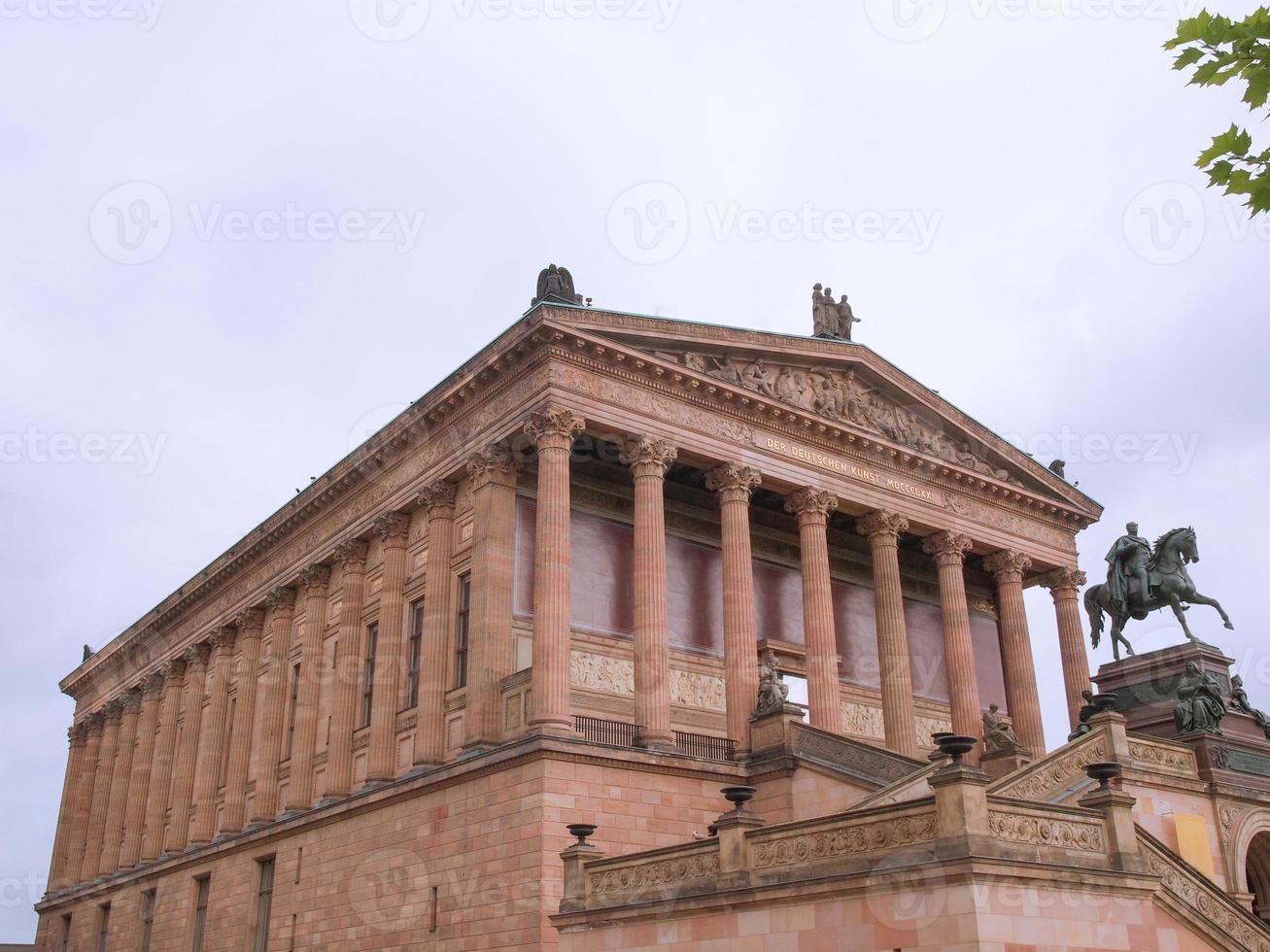 Alte National Galerie en Berlín. foto