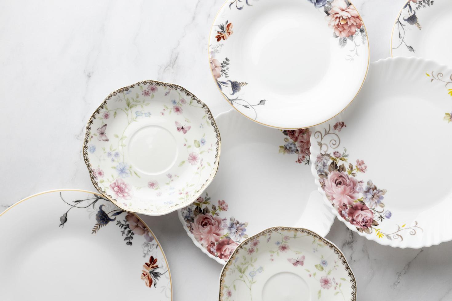la elegante composición de la fiesta del té foto