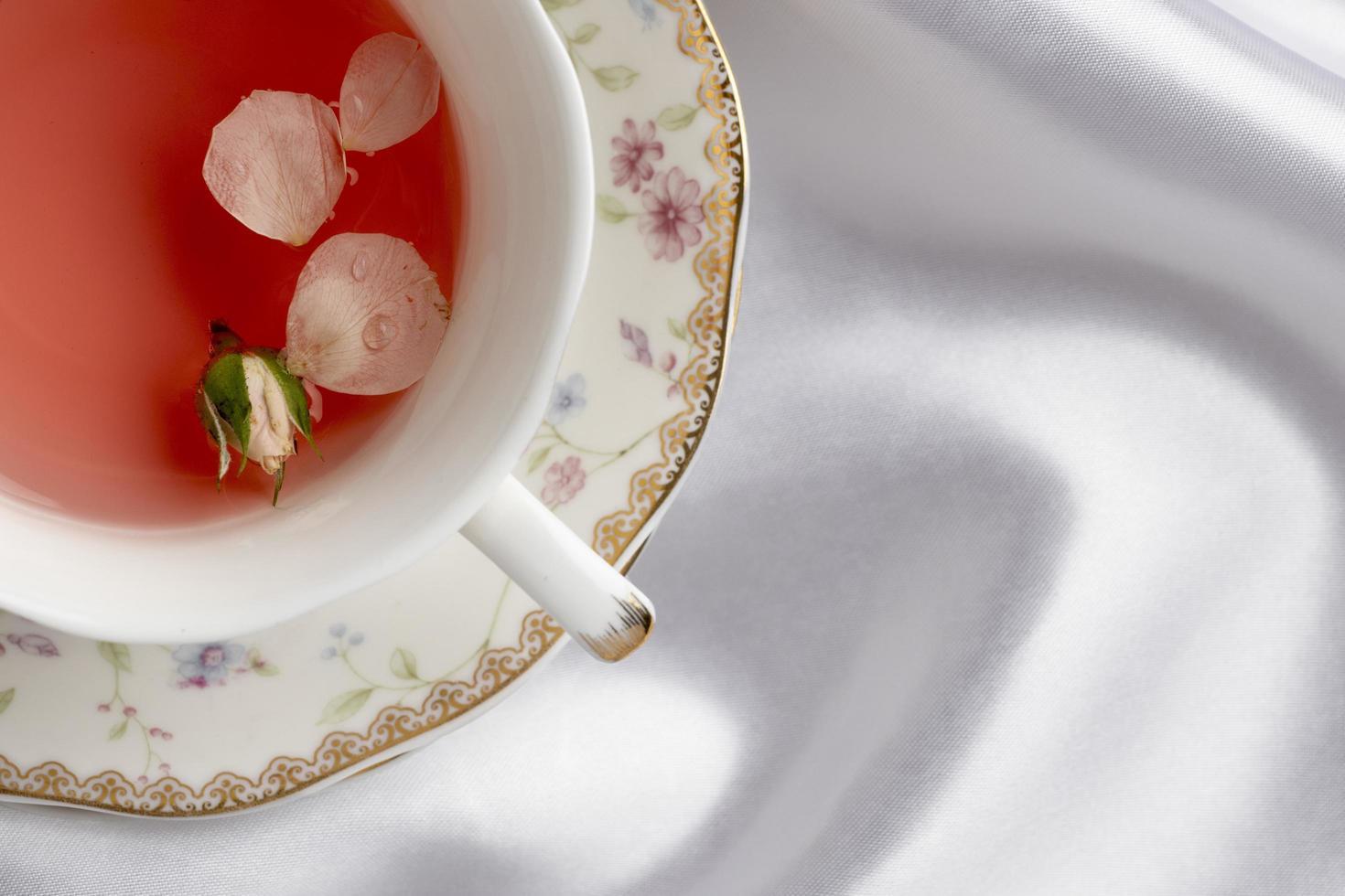 composición de la fiesta del té con espacio de copia foto
