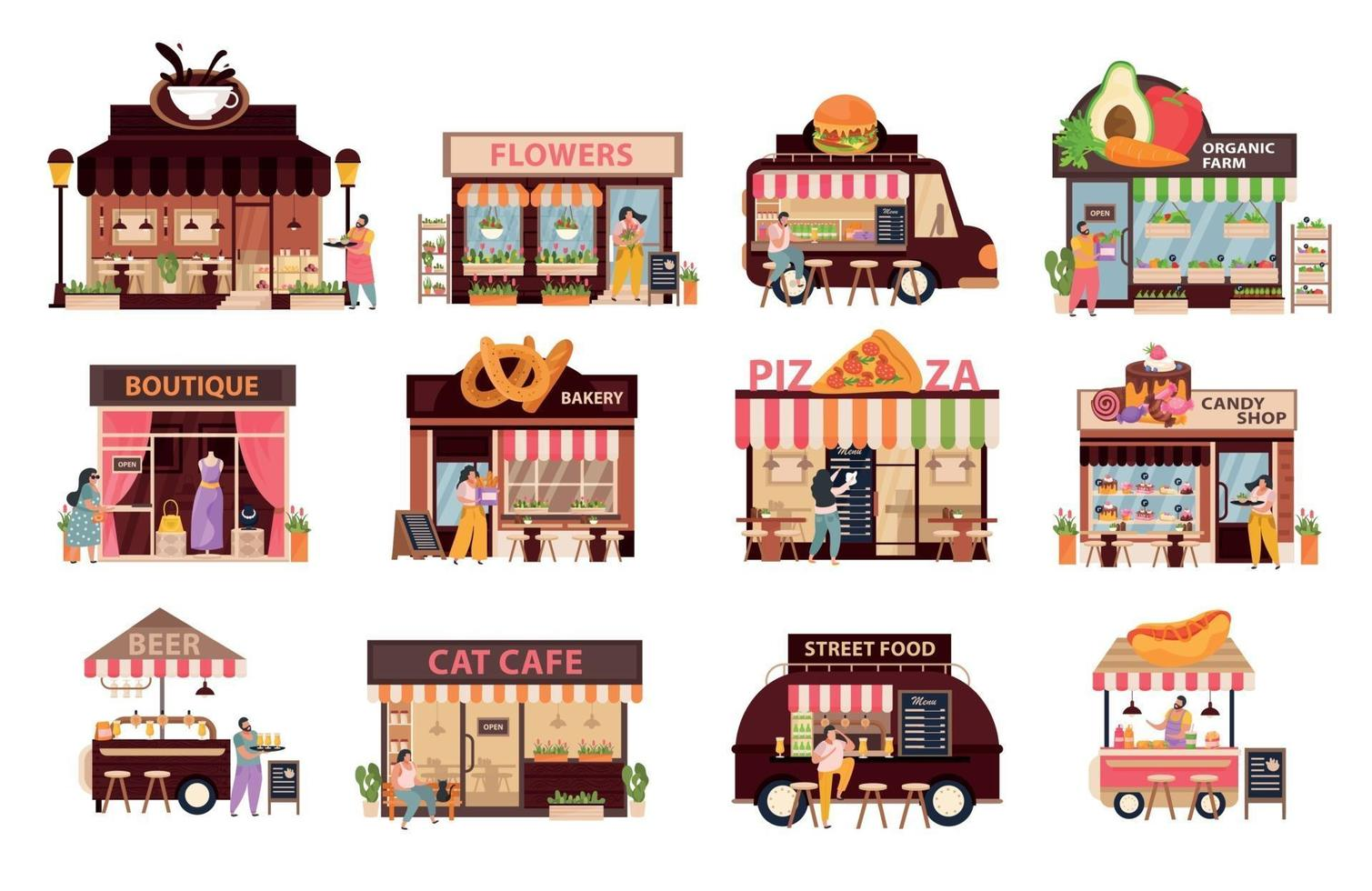 Small Business Icons Set vector