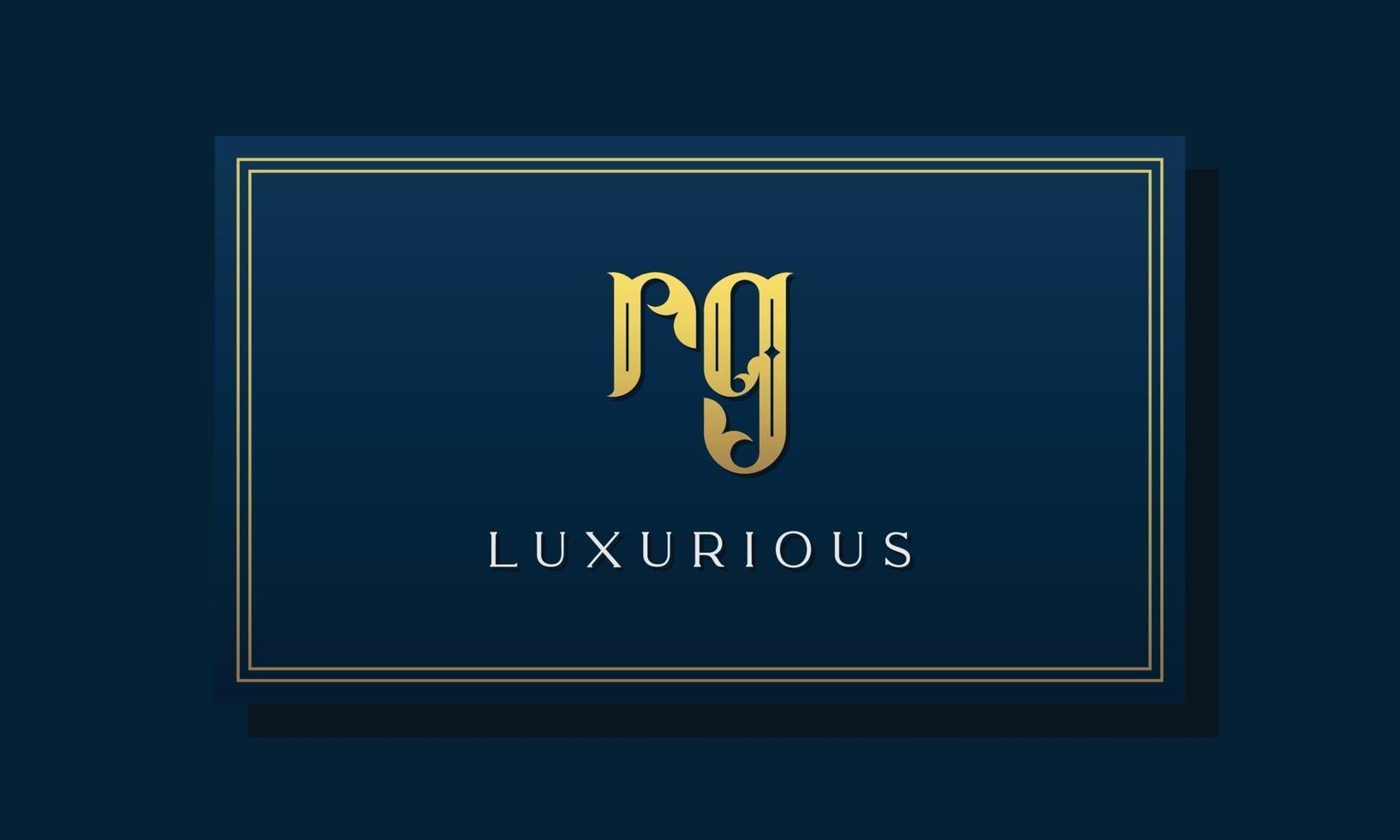 Vintage royal initial letters RG logo. vector