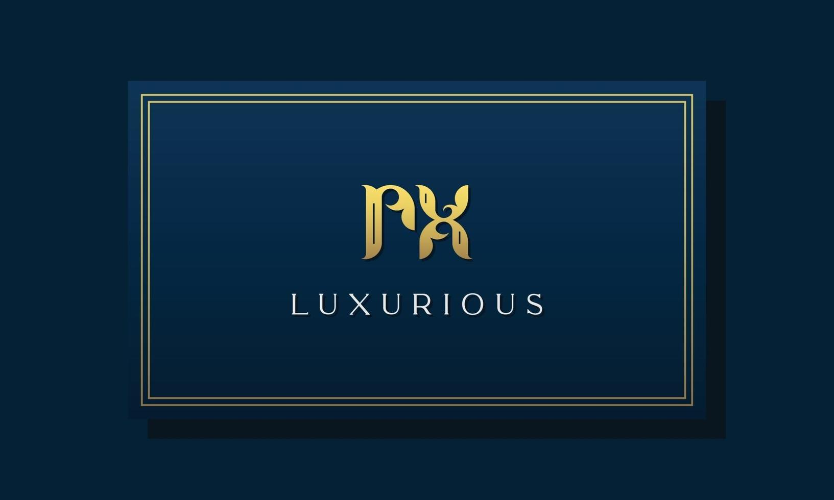 Vintage royal initial letters RX logo. vector