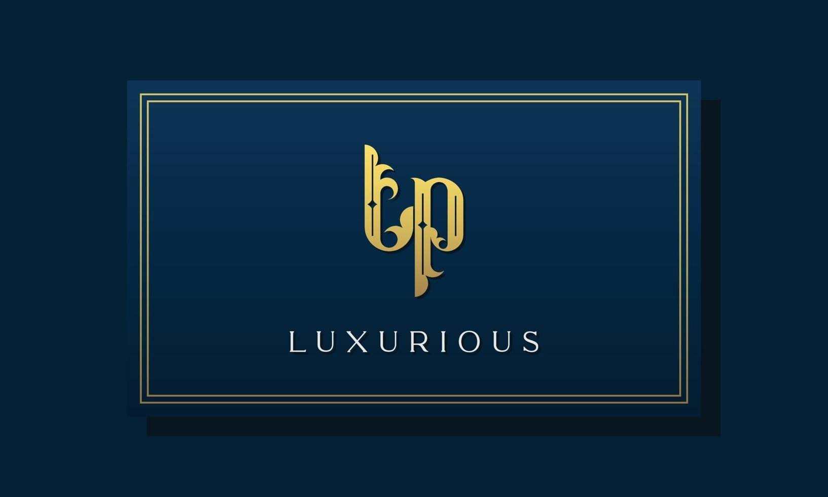 Vintage royal initial letters TP logo. vector