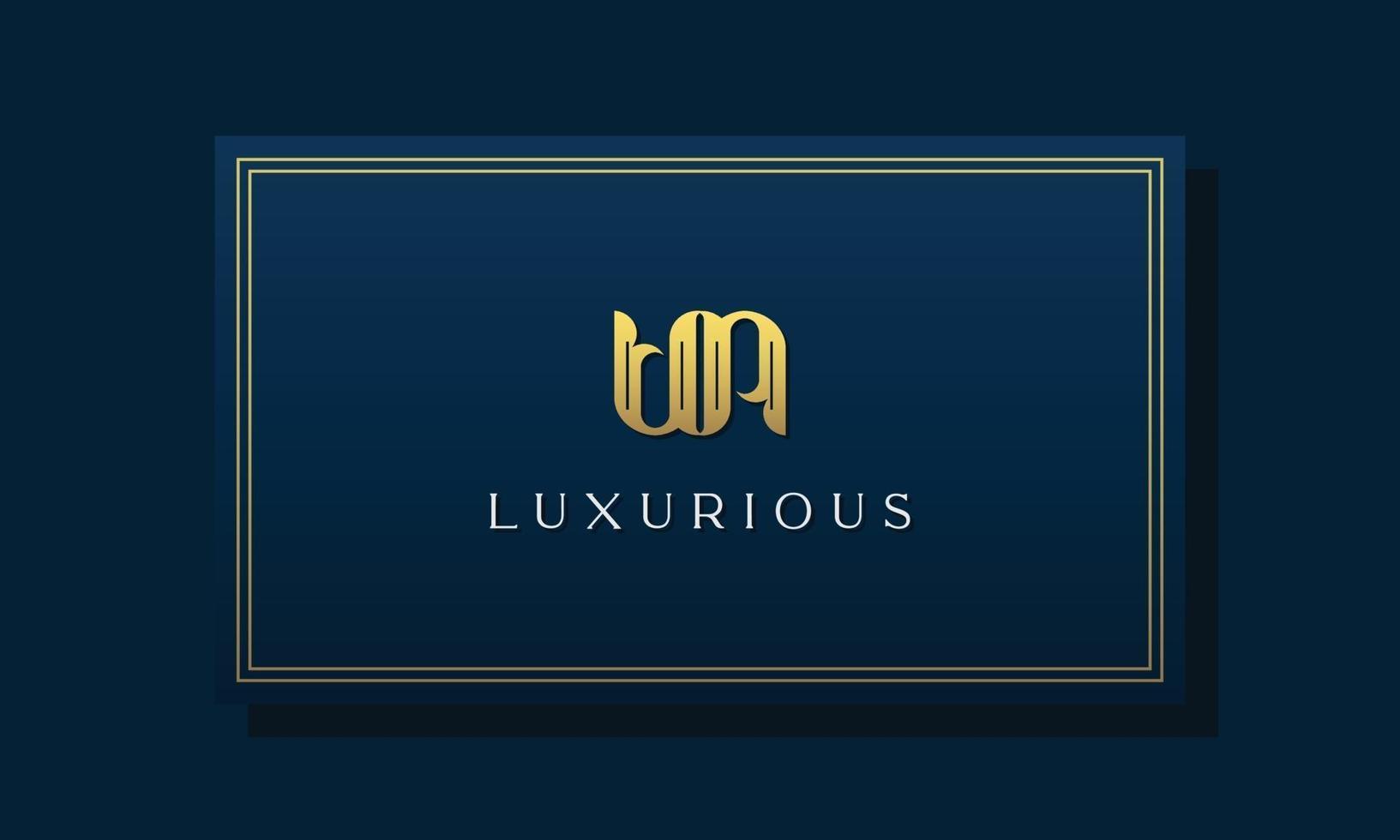 Vintage royal initial letters UN logo. vector
