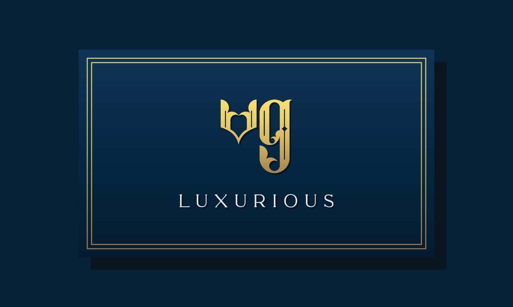 Vintage royal initial letters VG logo. vector