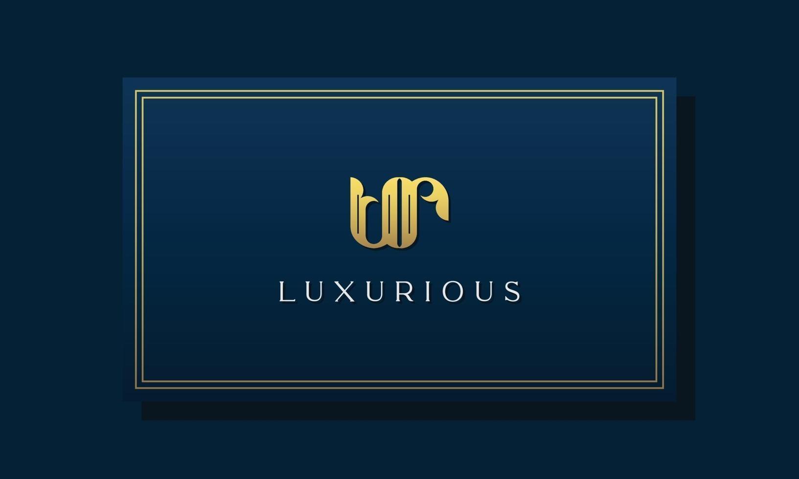 Vintage royal initial letters UR logo. vector